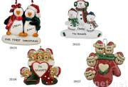 Resin personalized Christmas ornaments gifts