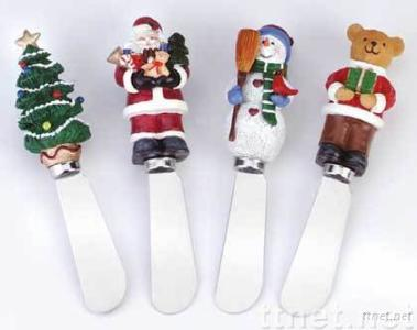 Resin Christmas butter knife and Spreader gifts