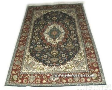 Hand Knotted Oriental Silk Carpet