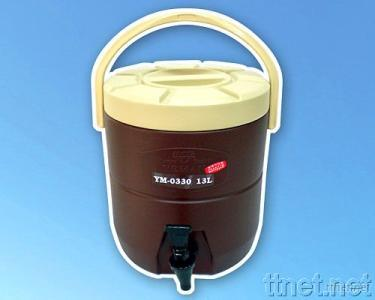 One-piece-formed Thermo Can w/Hot Tea Dispenser