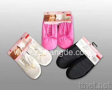 Ladies Microfiber Slipper Socks with ABS