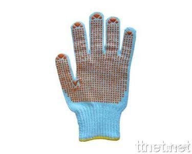 Knitting Glove with PVC Dots