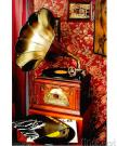 4 in One Antiqued Gramophone
