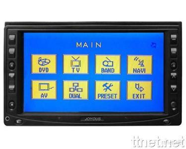 6.2 inch Double-din DVD Monitor with Touch Screen and FM/AM Amplifier