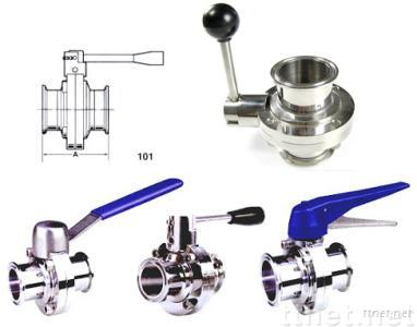 sanitary weld/male Butterfly Valve