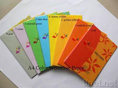 A4 Woodfree Color Paper
