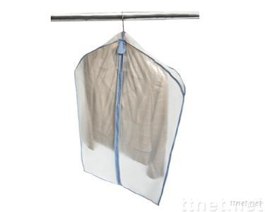 Nonwoven and Vinyl Suit Storage Bag with Hook