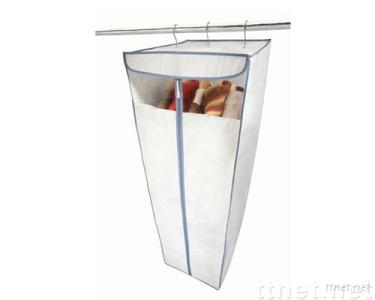 White Non-woven Hanging Dress Closet with Clear PVC Window