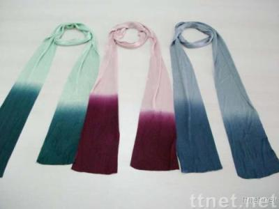 100% rayon degrade shawl