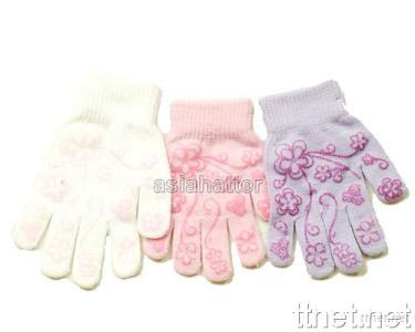 Knit Scarf and Gloves