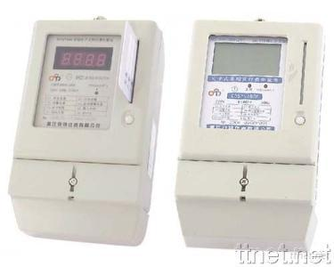 Single-Phase LCD/LED Display Prepayment Electronic Meter