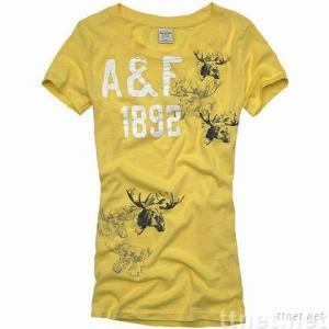 Wholesale hottest A&F ladies' T-shirts ,paypal
