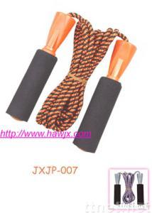 Jumping rope with sponge grip