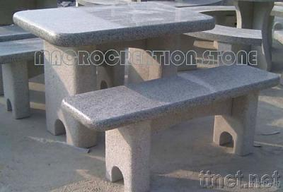 Granite Stone Table and Chair