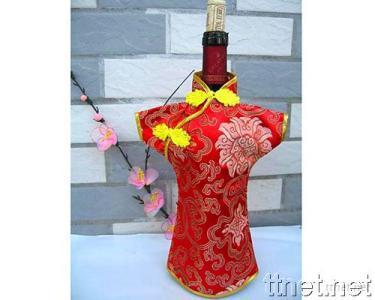 Mandarin Shirt Wine Bottle Cover