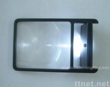 Card Sized Magnifier with Revolving LED DB227