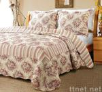 Country Stripe Red Quilt Set