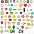 Loose sequins, PVC, various shapes, over 500 colors