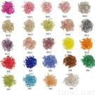 Glass bugle beads, various sizes, over 300 colors