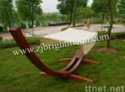 Hammock with Wooden Stand