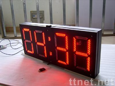 LED time temperature sign