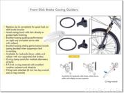 front disc brake cable guide