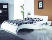 modern soft leather bed, home bed, leisure bed, leather bed, stylish bed, upholstery bed, bedroom furniture