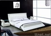 upholstery modern leather bed, stylish leisure bed, bedroom furniture