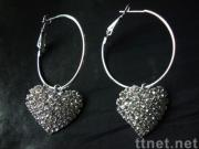 earring with rhinestones
