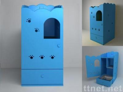 wooden cat litter box concealer No.2