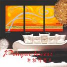 Abstract oil painting, handmade,multi-panel,home decor