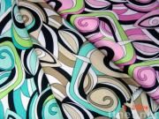 Satin fabric with printed