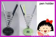 Exquisite Novelty Screw Pen Holder with Timepiece