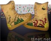 shoes with hand painted