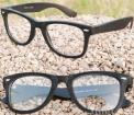 Goggles Glasses Wood Grain Frame Clear Lens