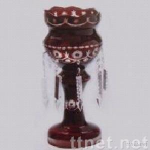 candle holder with cristal drops