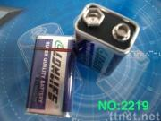 6F22 dry battery with metal jacket