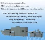 glass bottle washing drying filling and sealing production line