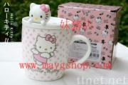 Hello Kitty Porcelain Coffee Cup / Mug with Cover