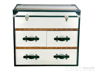 Wooden Cabinet with Aluminum surface