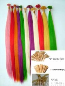 pre-bonded human hair extensions
