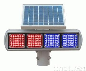 Solar traffic warning light