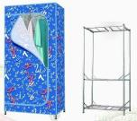Medium Size Wardrobe with Easily to Install Within One Minute.