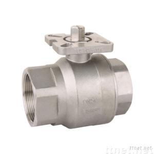 2 piece ball valve with mounting pad