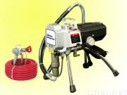 High pressure electric airless piston pump & paint sprayer set