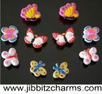 10 NEW Butterfly Shoe Charms Fit Jibbitz