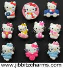 10 NEW Hello Kitty Shoe Charms Fit Jibbitz