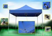 Foldable tent with reinforce steel frame, convenience, can be easily installed.
