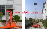 Telescopic cylindrical lift table
