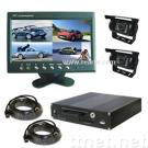 """4CH Vehicle Mobile DVR with 7"""" LCD Quad Screen Display and Security Cameras"""